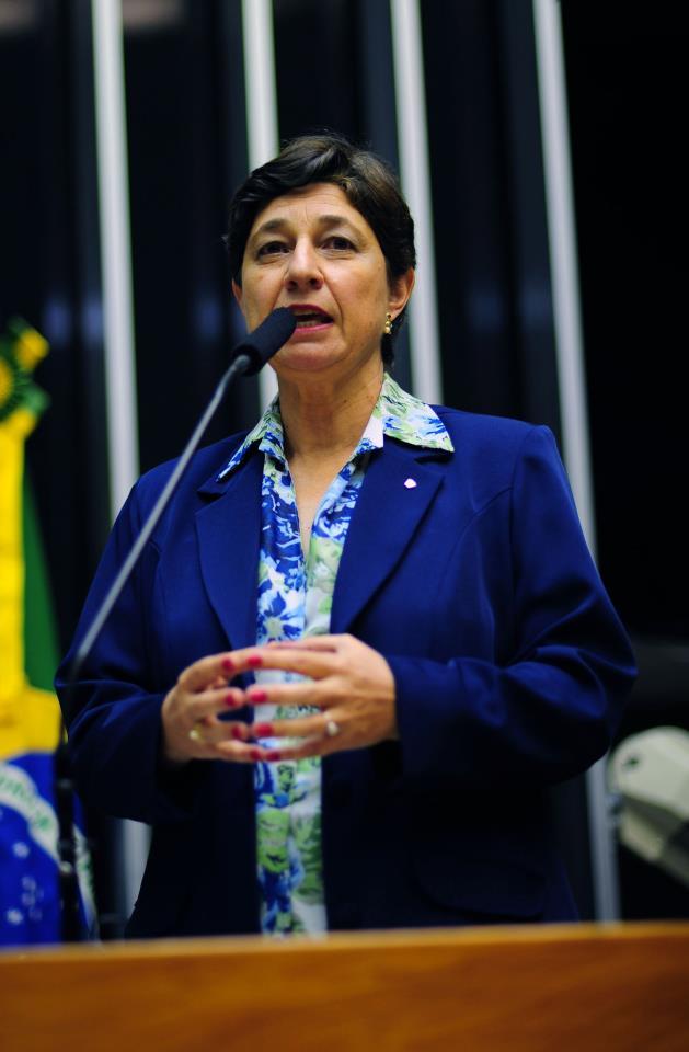 A presidente da ONG Brasil Sem Aborto, Lenise Garcia, em audiência pública na Câmara dos Deputados.