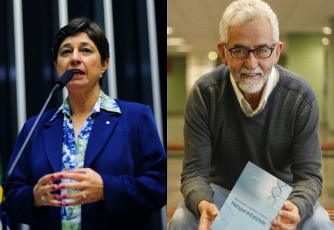 Os doutores Lenise Garcia e Mario Sanches são alguns dos participantes do seminário.