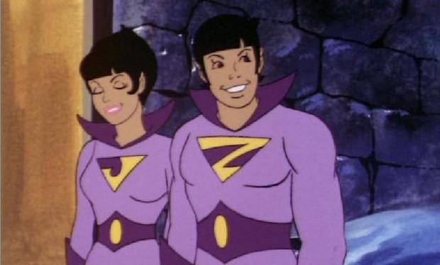 Jayna e Zan, os supergêmeos. (imagem: reprodução/YouTube)