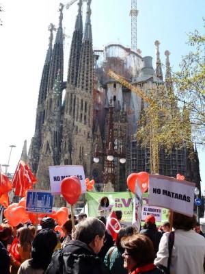 Marcha pela Vida, na Espanha