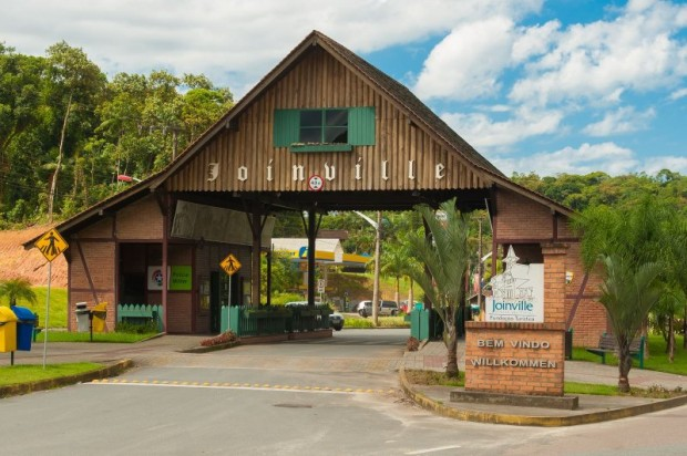 Pórtico de Joinville (foto: divulgação/Governo do Estado de Santa Catarina)