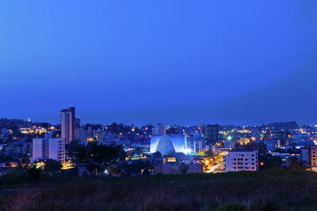 Vista panorâmica e Igreja Matriz (divulgação/Governo do Estado de Santa Catarina)