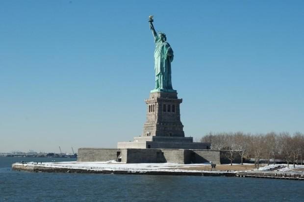 Estátua da Liberdade, em Nova York. Crédito: Wikimedia Commons.
