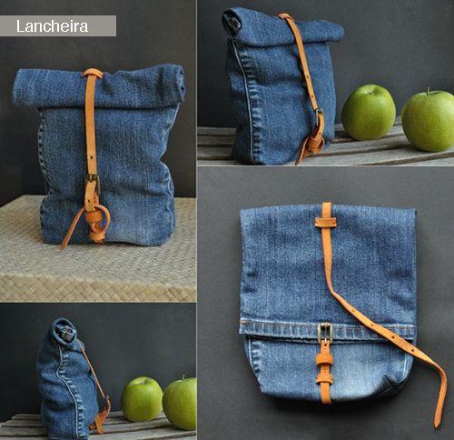 Esta calça jeans virou lancheira. Crédito: Bigstock.