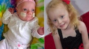 Grace, filha de Michaela Harris (divulgação/Facebook).