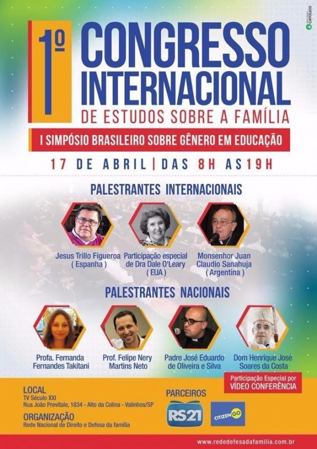 Congresso sobre estudos da Família
