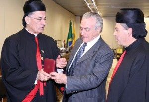 Temer recebe o Cardeal Bechara Boutros Rai, Patriarca da Igreja Maronita de Antioquia e de todo o Oriente Médio. (foto: Romero Cunha/Vice-Presidência da República)
