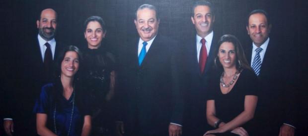 Família de Carlos Slim, o homem mais rico da América Latina.