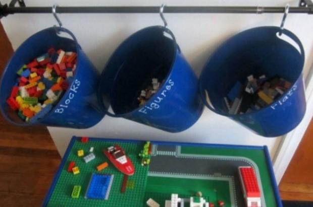 7 maneiras criativas para organizar e guardar o Lego do seu filho