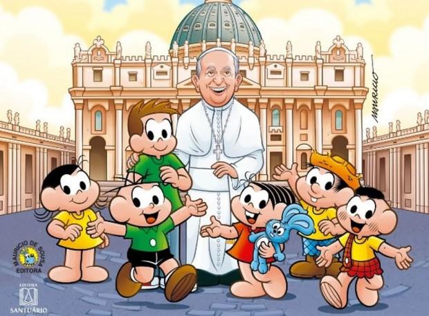 Papa Francisco vira personagem da Turma da Mônica em nova publicação