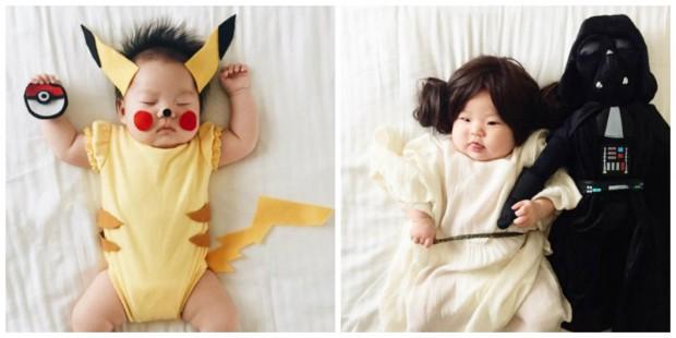 Mãe fotógrafa transforma a filha em personagens famosos enquanto ela dorme