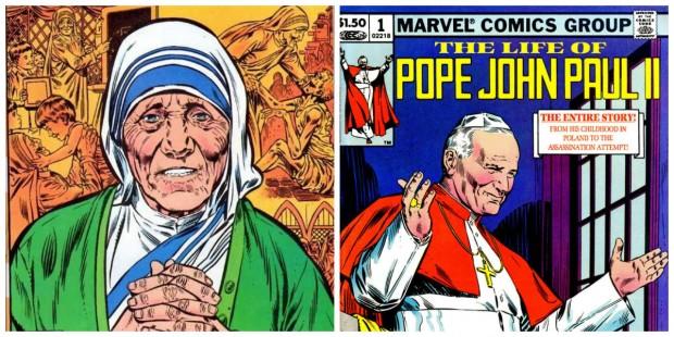 Madre Teresa e João Paulo II como heróis da Marvel? Sim, isso aconteceu