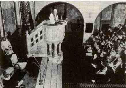 S. João Paulo II faz a primeira visita de um papa a uma Igreja Luterana, em 1983.