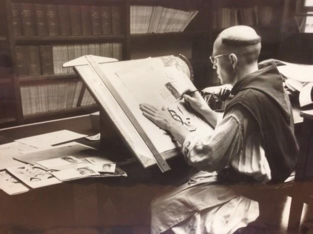 Palladino na época em que foi monge trapista. Foto: Arquivo pessoal.