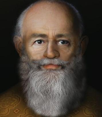 A reconstituição do rosto de São Nicolau. Imagem: Liverpool John Moores University