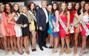 Trump, quando era dono do concurso Miss Universo (foto: divulgação).