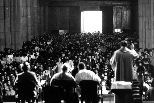 A Catedral da Sé lotada em outubro de 1975, no ato em memória de Herzog. Foto: Confederação Israelita do Brasil