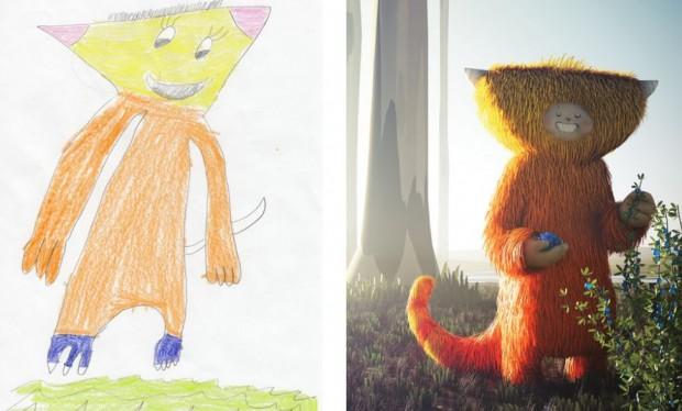 Projeto transforma desenhos de crianças em ilustrações incríveis
