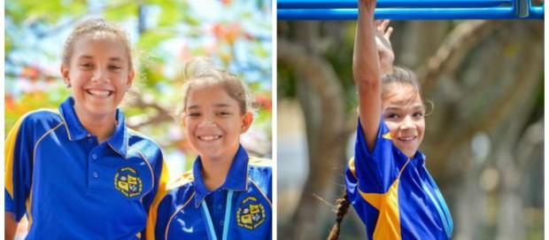 Na primeira foto, Heather (à direita) e sua irmã Luka, um ano mais velha. Fotos: The Observer.