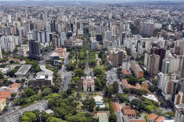 Belo Horizonte vista de cima (foto: Wikimedia Commons).