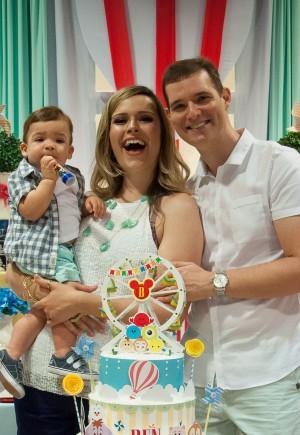 Alessandra e a família.