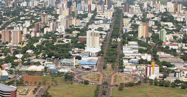 Vista aérea da cidade de Cascavel (foto: divulgação/Prefeitura de Cascavel).