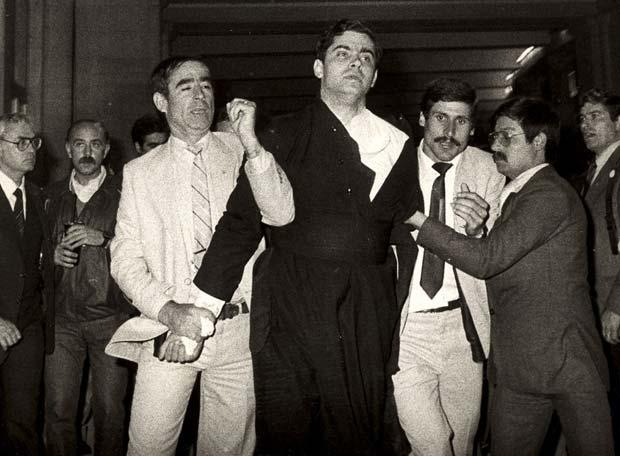 Krohn ao ser detido em Fátima.