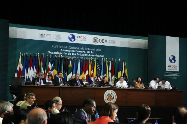 Primeiro dia de trabalhos da assembleia em Cancún. Foto: Alberto Viveros/OEA