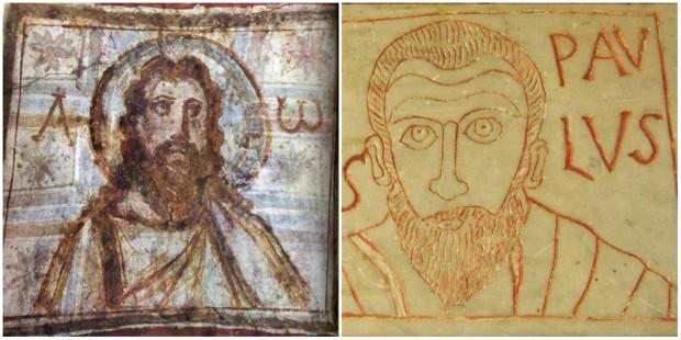 15 imagens dos primeiros séculos do cristianismo retratando Jesus e os apóstolos