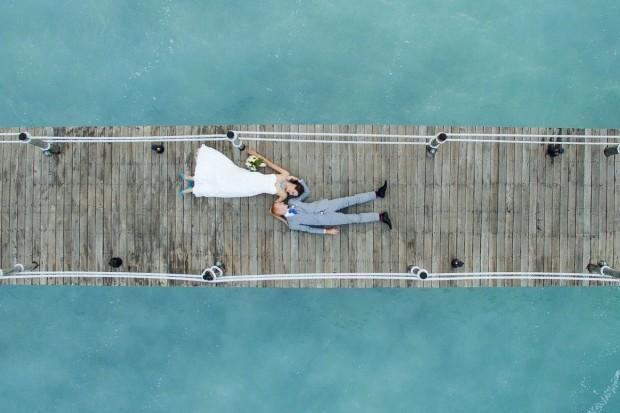12 fotos de casamento incríveis tiradas com drones que você vai querer copiar