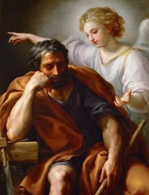 """""""O sonho de São José"""", por Anton Raphael Mengs. Imagem: Commons"""