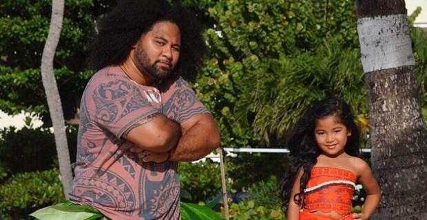 Pai e filha recriam Moana e Maui em ensaios superfofos