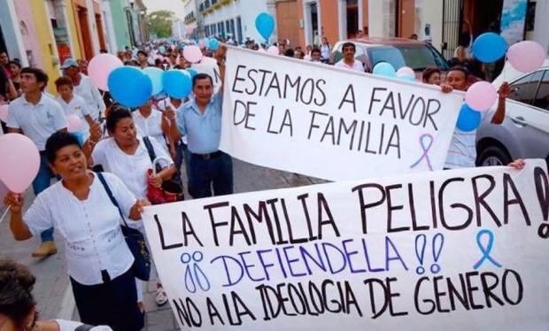 Marcha contra a ideologia de gênero promovida em Lima, capital do Peru, em março desse ano (foto: divulgação).