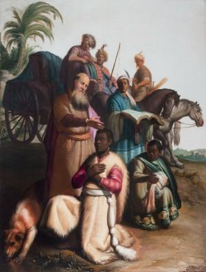 """""""O batismo do eunuco"""", por Rembrandt. Imagem: Commons"""
