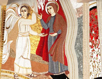 Detalhe do mosaico da Catedral da Mãe de Deus, em Castanhal, no Pará.