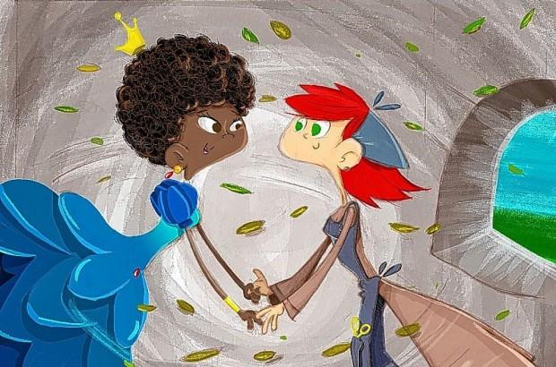 Capa do livro, A Princesa e a Costureira, no qual a polêmica peça é inspirada (foto: digvulgação).