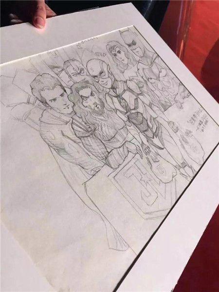 O desenho do menino, que morreu em um acidente. Foto: China.org.cn