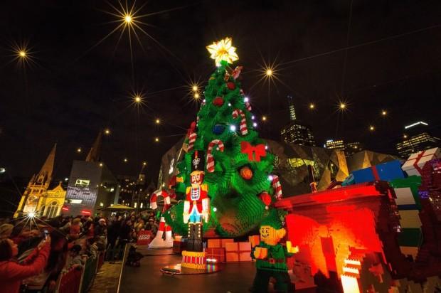 Árvore de Natal em Melbourne, Austrália.