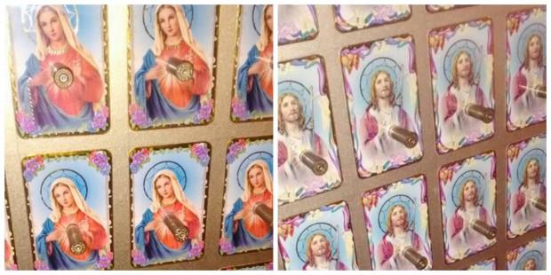 Exposição mostra Jesus e a Virgem Maria com balas de revólver no peito e revolta católicos