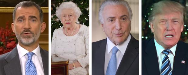 Trump, Temer, Elizabeth II e outros: o que os governantes disseram em suas mensagens de Natal