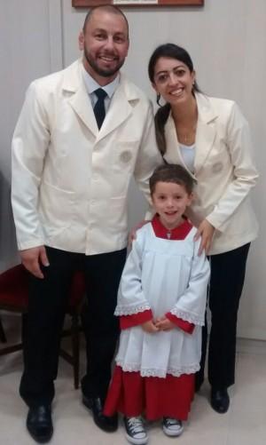 Márcio, a esposa e o filho. Foto: Arquivo pessoal.