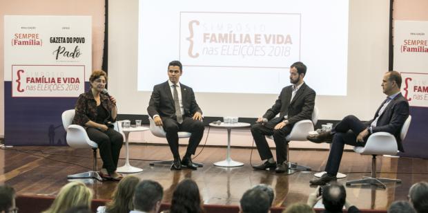 Da esquerda para a direita: Lenise Garcia, deputado Diego Garcia, Jônatas Dias e Guilherme Schelb.