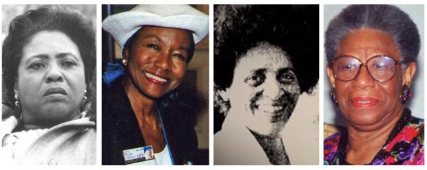 Fannie Lou Hamer, Mildred Jefferson, June Franklin e Erma Clardy Craven.