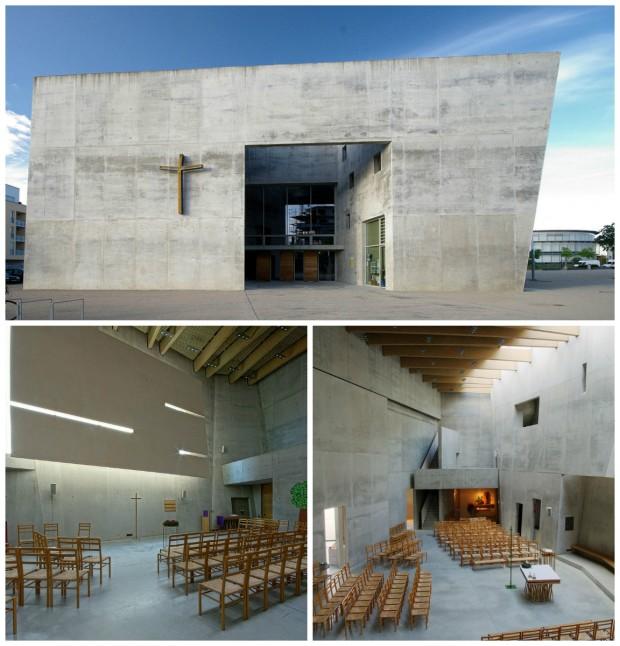 Maria-Magdalena Kirche. À esquerda, o espaço luterano; à direita, o católico. Fotos: Commons