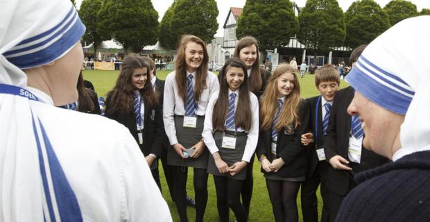 Estudantes do Saint Patrick College, de Belfast, capital da Irlanda do Norte (foto: divulgação)