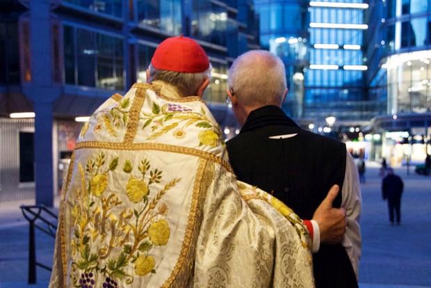 O cardeal Vincent Nichols e o arcebispo de Canterbury, primaz da Comunhão Anglicana, Justin Welby, em novembro de 2016. Foto: Diocese de Westminster.