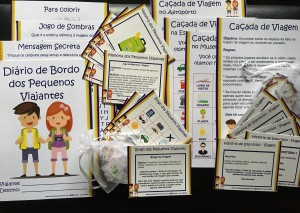 Brincadeiras impressas para Viagens com Crianças