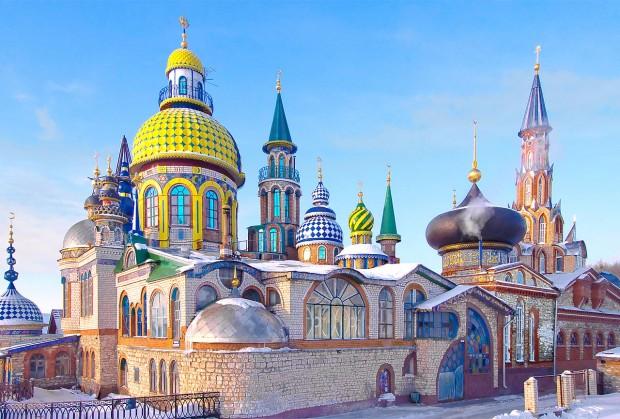 O Templo de Todas as Religiões, há 23 anos em construção em Kazan. Foto: Wikimedia Commons.