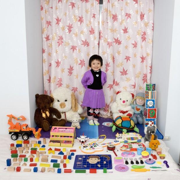Cun Zi Yi, de 3 anos, vive em Chongquing, China.