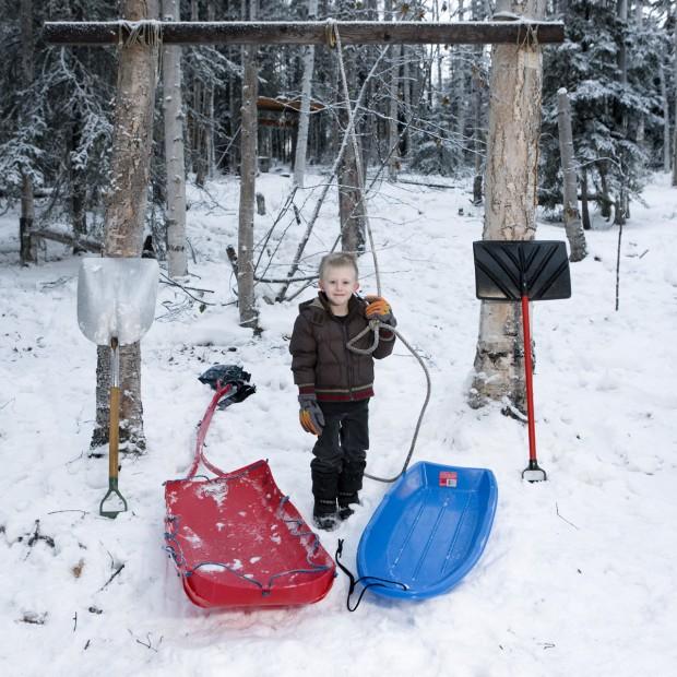 Callum, de 4 anos, é de Fairbanks, no Alasca, nos Estados Unidos.